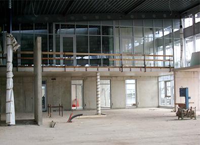 2008 Vergrößerung der Werkstatt, Neubau der Ausstellungshalle